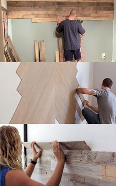 25 best DIY pallet wall tutorials & designer tips on how to create beautiful accent wood wall paneling easily, plus peel and stick boards & wallpaper ideas! Diy Pallet Wall, Diy Wood Wall, Pallet Walls, Pallet Wall Bathroom, Diy Bathroom Remodel, Budget Bathroom, Palette Diy, Wood Panel Walls, Ship Lap Walls