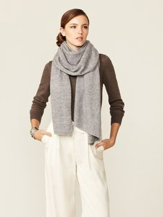 Magaschoni Feather Cashmere Scarf