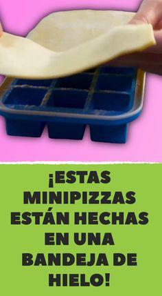 ¡Estas minipizzas están hechas en una bandeja de hielo! I Love Pizza, Arancini, Strudel, Food Humor, Antipasto, Finger Foods, Tapas, Food To Make, Food And Drink