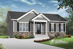 Discover the plan 3137 - Miranda from the Drummond House Plans house collection. Economical Modern Rustic Starter home design with open floor plan concept. Total living area of 864 sqft. Rustic House Plans, Cottage House Plans, Small House Plans, Cottage Homes, House Floor Plans, Drummond House Plans, Modern Rustic Homes, Ranch Style Homes, House Front