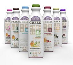Read more about Helios Organic Greek Nonfat Kefir. Dairy Packaging, Beverage Packaging, Bottle Packaging, Food Packaging, Yogurt Packaging, Product Packaging, Label Design, Branding Design, Design Packaging