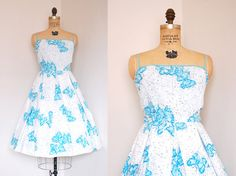 Beautiful butterflies! 1950s dress // 50s vintage designer Pat Premo by TrunkofDresses, $345.00