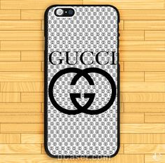 Inspired White Gucci Logo iPhone Cases Case
