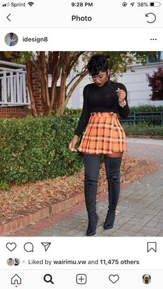 Thigh Highs & Plaids 😍 x BOOT Charming fall skirt Black Women Fashion, Love Fashion, Fashion Looks, Womens Fashion, Fashion Goth, Fashion 2017, Fashion Trends, Chic Outfits, Trendy Outfits