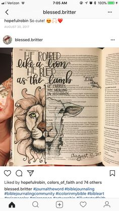 Bible journaling lion & lamb These are awesome Scripture Doodle, Scripture Study, Bible Art, Bible Book, Bible Drawing, Bible Doodling, Bible Prayers, Bible Scriptures, Bible Study Journal
