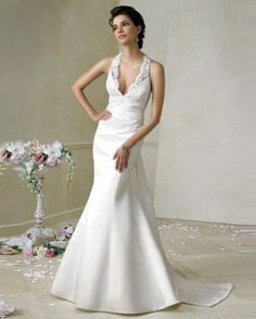 silk summer wedding dress