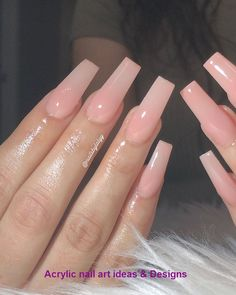 In look for some nail designs and ideas for your nails? Listed here is our set of must-try coffin acrylic nails for cool women. Long Square Acrylic Nails, Pink Acrylic Nails, Coffin Nails Long, Acrylic Nail Designs, Long Square Nails, Long Nail Designs Square, Pink Tip Nails, Pink Acrylics, Aycrlic Nails