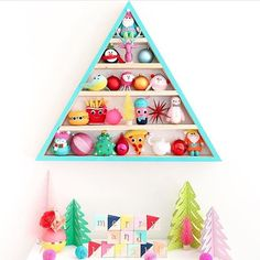 Why not build yourself a modern wooden tree for the holidays this year? Last year I used it as an advent calendar where my kids got to add an ornament every day and they loved it! Details on making your own are on the blog.  http://ift.tt/2goJNFb