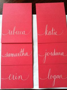 Custom and Affordable Wedding Place Card by serendipitydesignsnc, $0.45