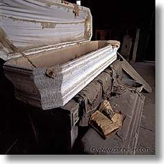 See previous post for further details. Abandoned Asylums, Abandoned Buildings, Abandoned Places, Bodie California, Places In California, Funeral Caskets, Old Houses, Haunted Houses, Cemetery Art