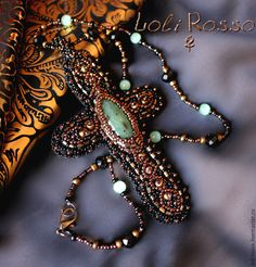 Livemaster.ru Handmade beadwork cross `Incanto di Venezia` by Loli Rosso. Ручная работа. Авторский крест `Incanto di Venezia`, вышивка бисером по коже.