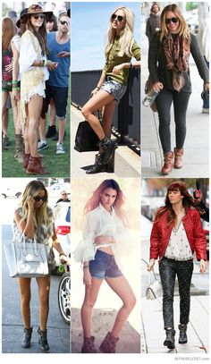 Alessandra Ambrosio, Shea Marie (Peace Love Shea), Hilary Duff, Ashley Tisdale, Jessica Alba and Jessica Biel wearing Isabel Marant Caleen Studded Pull-On Ankle Boots