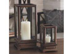 Portico Large Wood Candle Lantern (Large)
