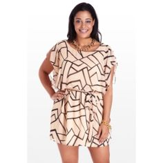 Peachy Keen Chiffon Dress