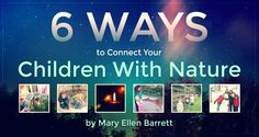 6 Ways to Connect Your Children With Nature - by Mary Ellen Barrett | I want my children to have a deep appreciation for all of creation, not just what from the Discovery Channel or the zoo...