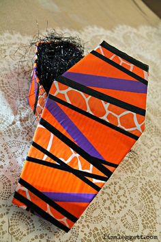 Scotch Duct Tape Halloween Casket, easy fun craft!