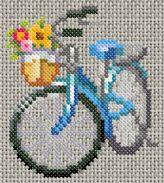 Adorable bike cross stitch...so cute!!