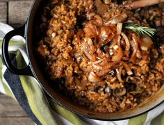 Baked Mushroom Risotto with Caramelized Onions: Vegan, Gluten-Free,  Dairy-Free, Nut-Free. Perfect for a challenging dinner guest.