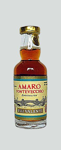 Valenti Eridanea - Mini Liquor Bottles - White Bitter Pontevecchio - https://sites.google.com/site/valentieridanea/