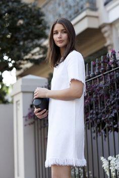 white dress #harperandharley
