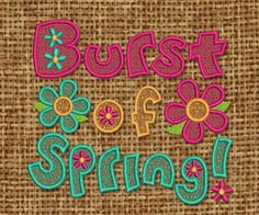 INSTANT DOWNLOAD Burst of Spring Embroidery by EmbroideryLand