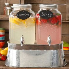 The Pioneer Woman Simple Homemade Goodness Double 1-Gallon Twin Set Drink Dispenser with Ice Bucket, 2 Mini Chalk Boards and Chalk Pencil - Walmart.com