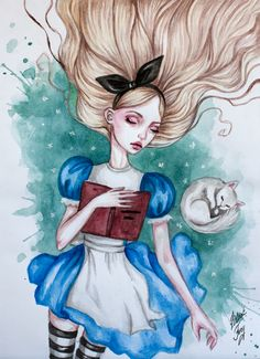 Sleeping Alice by BlackFurya.deviantart.com
