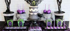 Maleficent Inspired Dessert Table