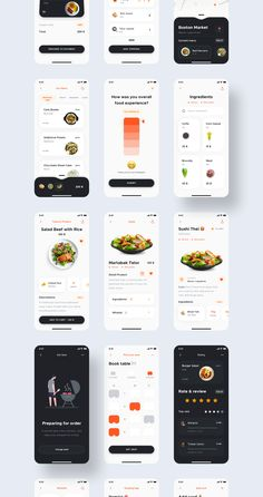CODE East UI Kit - iOS UI/UX Design for Restaurant food delivery App. Order food is much easier with an App. Here I tried to design the UI as simple as possible which make the functionality easier to it's users. Restaurant Food Delivery, Restaurant App, Ui Ux Design, Logo Design, Graphic Design, Delivery App, Graphic Projects, Web Project, Application Design
