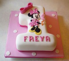 Minnie Mouse Number One Birthday Cake