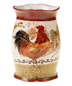 Look at this #zulilyfind! Rooster Wine Cooler #zulilyfinds  I got this and use it as a flower vase.  Looks great on the kitchen counter.
