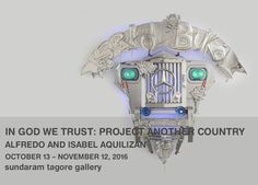 In God We Trust, 2009, stainless steel, handcrafted metal embellishments & jeep parts, 70.9 x 136.6 x 70.1 inches/180 x 347 x 178 cm  IN GOD WE TRUST: PROJECT ANOTHER COUNTRY ALFREDO AND ISABEL AQUILIZAN展 2016.10.13 - 2016.11.12