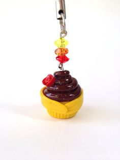 Belle Disney Inspired Cupcake Polymer Clay by PixieDustedCharms, $11.00