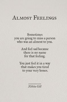 Almost Feelings