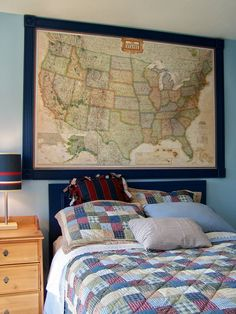 DIY Travel Map Pin Board Less Than Bucks For A Giant Wall Map - Large us wall map