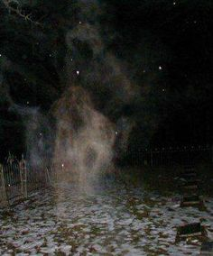 This photograph appeared in both the Chicago Sun-Times and the National Examiner. It was taken during a #paranormal investigation in Bachelor's Grove Cemetery on August 10, 1991.