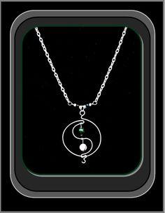 yin yang jewelryying yang necklaceyin by RosesWireArtJewelrY
