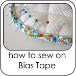 """I lOVE bias tape and use it often. I have found it much easier to get the results I want, if I spritz it until it is damp, before I pin it in place. Press it while it is damp and it will stretch and conform to the curves and circles.""  REPLY"