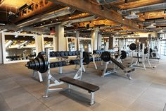 Standard Fitness Gym Size Home Basement Gym, Garage Gym, Gym Interior, Interior Architecture, Interior Design, Brainstorm, Gym Center, City Gym, Home Gym Design