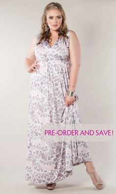 This fun, boho-chic plus size sleeveless maxi dress comes in a gorgeous sweet downy print. We took the silhouette of our classic maxi dress and changed it. Beautiful print in a sleeveless style make this your go to dress for the season!