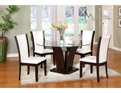 Enclave Casual Wood White Dining Set, Table+4 ChairsDining room sets
