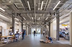 With the newly minted Pennovation Center, the University of Pennsylvania and architecture firm HWKN certainly think so. Innovation Lab, Innovation Centre, Construction Group, University Of Pennsylvania, Interior Work, Grand Staircase, Learning Spaces, Ceiling Design, Real Estate Marketing