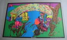 Psychedelic Black Light Poster Beware The Trolls 1970's Pin-Up #Vintage