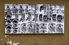 "Bráulio Amado, Ficciones Typografika 540-542 (24""x36""). Installed on June 26, 2014. More on Ficciones Typografika."