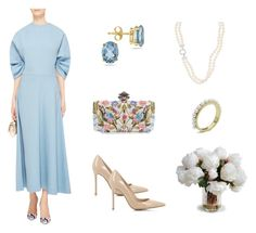 """Beautiful Blue Dress"" by scolab ❤ liked on Polyvore featuring Alexander McQueen, Gianvito Rossi and New Growth Designs"