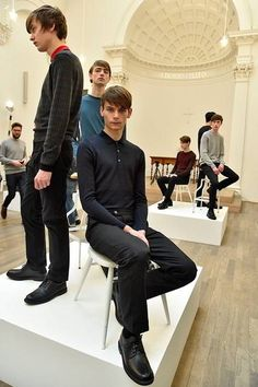 John Smedley Fall/Winter 2016/17 - London Collections: MEN - Male Fashion Trends Fall Winter, Male Fashion, Fashion Trends, Men Casual, Collections, London, Socks, Culture, Style