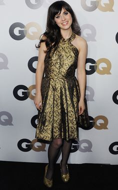 Zooey Deschanel in vintage at the GQ Magazine Men of the Year party.