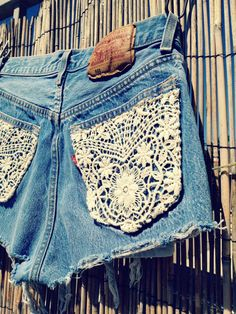 Vintage Levis Denim High Waist Cut-off Shorts. Or I could just add lace to my own  :)
