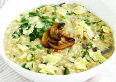 Delicious recipe for Healthy Mushroom Risotto, a recipe from The Healthy Mummy. Put it on your meal plan if you want to lose weight and still eat good food.