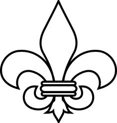 fleur de lis Patterns | Fleur De Lis Outline clip art - vector clip art online, royalty free ...